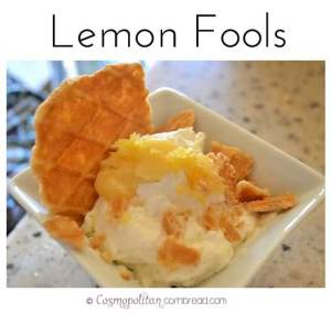 Lemon Fools from Cosmopolitan Cornbread | A light and luscious warm weather dessert