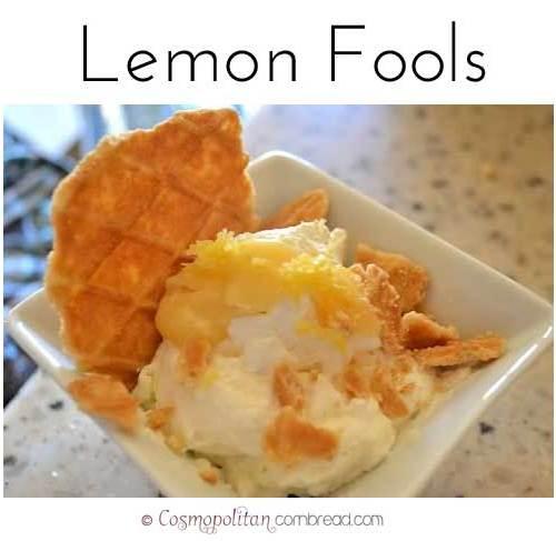 Lemon Fools from Cosmopolitan Cornbread   A light and luscious warm weather dessert