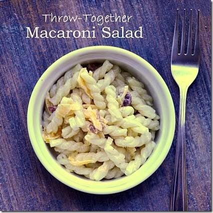 Easy Macaroni Salad | Cosmopolitan Cornbread