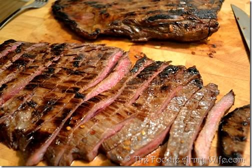 Skillet Seared Flank Steaks from The Foodie Army Wife