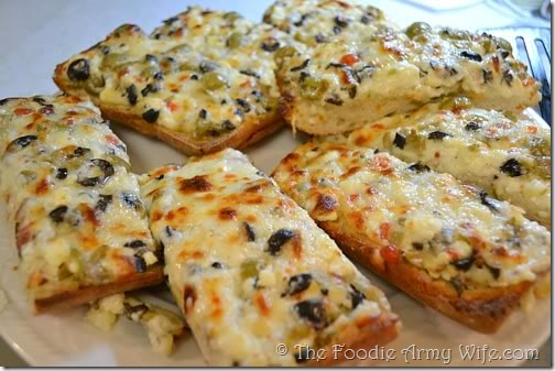 Cheesy Feta Olive Bread from The Foodie Army Wife