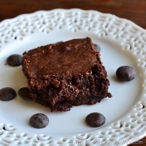 Chewy Brownies from TheFoodieArmyWife.com