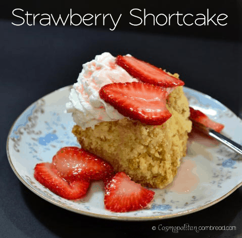 Homemade Strawberry Shortcake from Cosmopolitan Cornbread