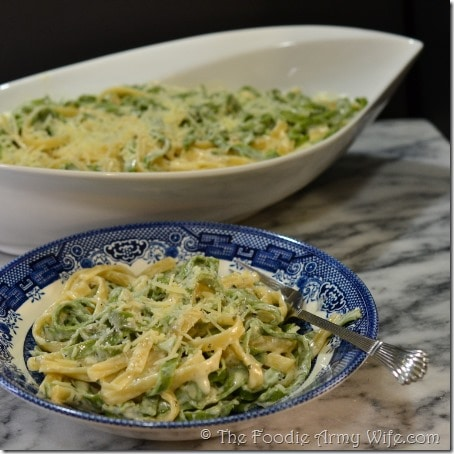 Fettuccine Alfredo from The Foodie Army Wife