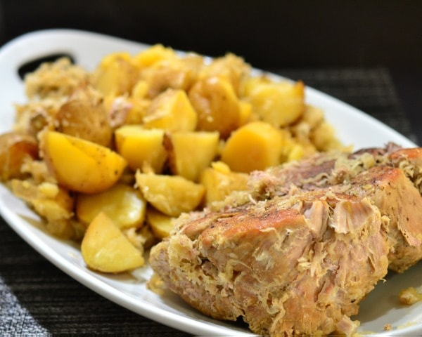 Pork Roast & Sour Kraut