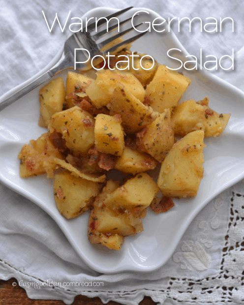 Warm German Potato Salad from Cosmopolitan Cornbread