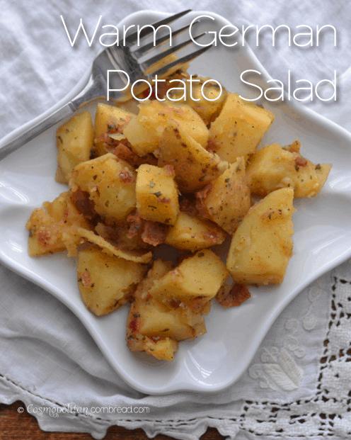 Warm German Potato Salad & Summer Cookout Recipes
