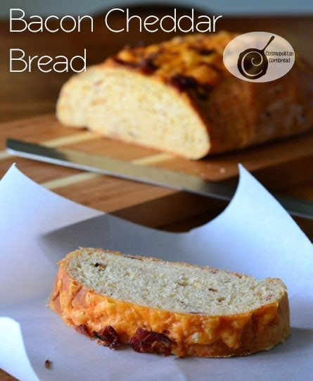 Unbelievably delicious Bacon Cheddar Bread - learn how to make it from Cosmopolitan Cornbread
