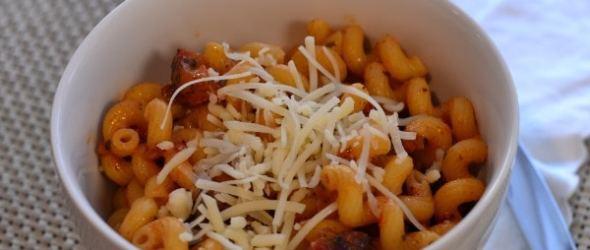 Creamy Cavatappi with Italian Sausage