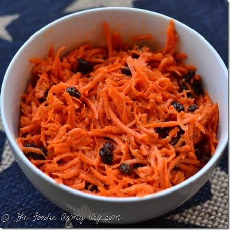 Carrot Slaw from The Foodie Army Wife