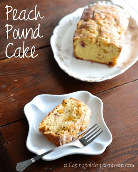 Peach Pound Cake from Cosmopolitan Cornbread