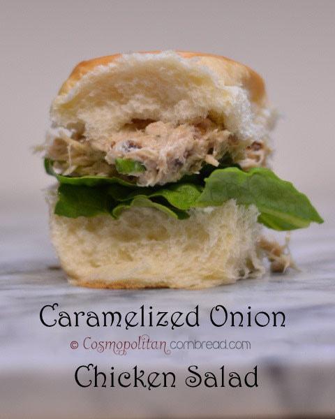 Caramelized Onion Chicken Salad Sandwiches