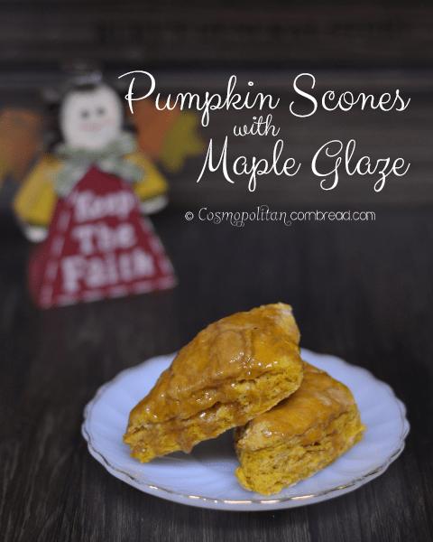 Pumpkin Scones with Maple Glaze