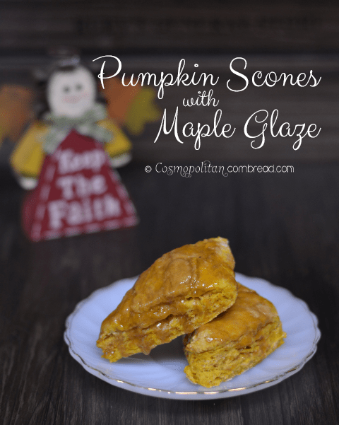 Pumpkin Scones with Maple Glaze
