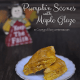 Pumpkin Scones with Maple Glaze from Cosmopolitan Cornbread