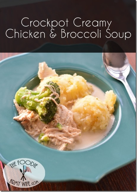 Crockpot Creamy Chicken Broccoli Soup 1
