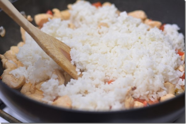 Chicken Rice Parm Skillet from The Foodie Army Wife