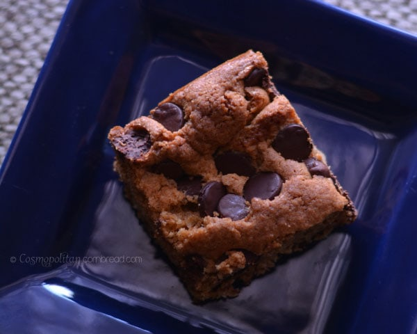 Chocolate Chip Blonde Brownies from Cosmopolitan Cornbread