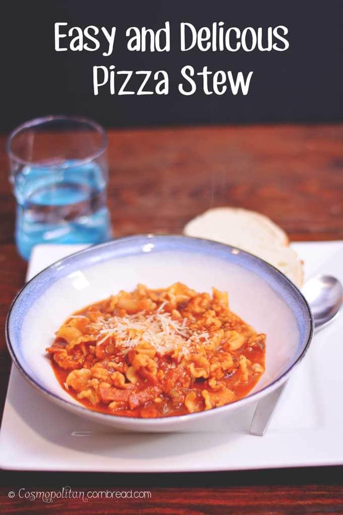 Easy & Delicious Pizza Stew from Cosmopolitan Cornbread