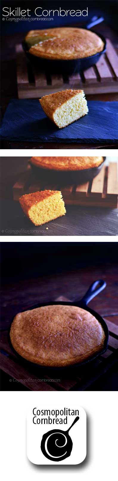 Good old-fashioned Skillet Cornbread - get the recipe from Cosmopolitan Cornbread