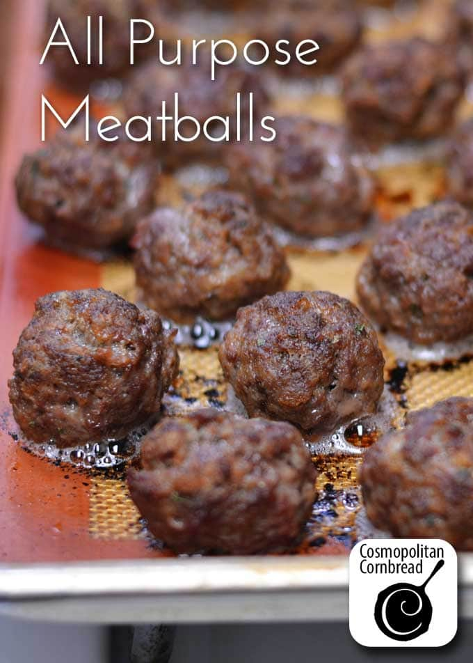 How to make homemade meatballs that you can use in just about any dish. Get the recipe from Cosmopolitan Cornbread