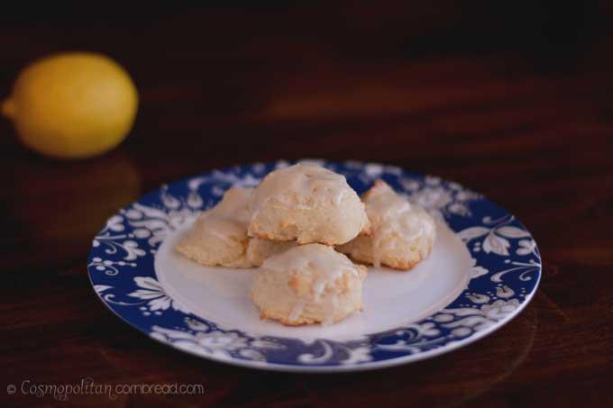 Italian inspired Limoncello Cookies from Cosmopolitan Cornbread