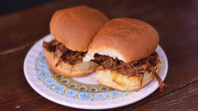 Zippy Peach Pork - An Instant Pot Recipe | Get the recipe from Cosmopolitan Cornbread