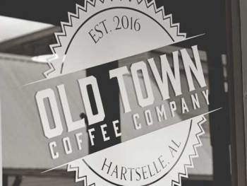 Old Town Coffee Company in Historic downtown of Hartselle, Alabama | Cosmopolitan Cornbread