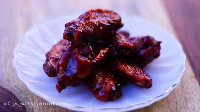 35 Tailgating Recipes for Football Season | Blackberry Sriracha BBQ Wings