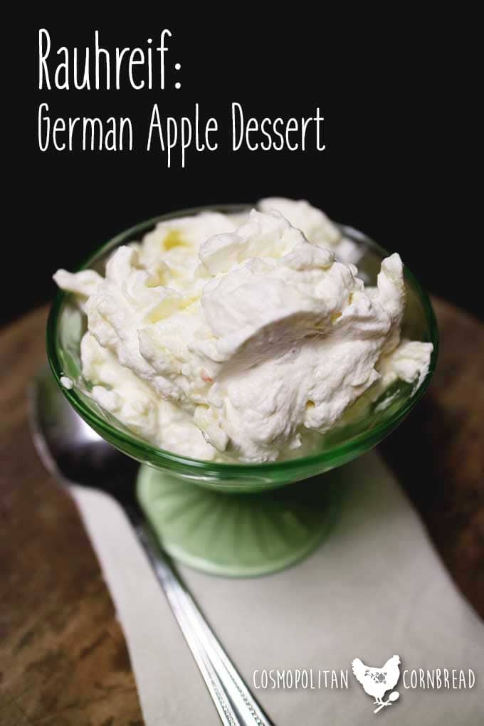 Rauhreif - German Apple Dessert, simple & elegant. Get this and loads more Desserts Recipes for the Holidays!