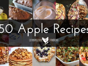 Get ready for Apple Season with 50 Amazing Apple Recipes, from scones to cocktails. See them all at Cosmopolitan Cornbread,