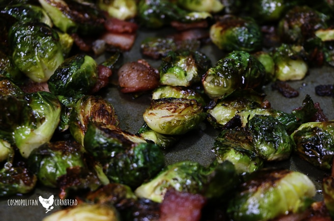 Roasted Brussels Sprouts with Bacon | Paleo