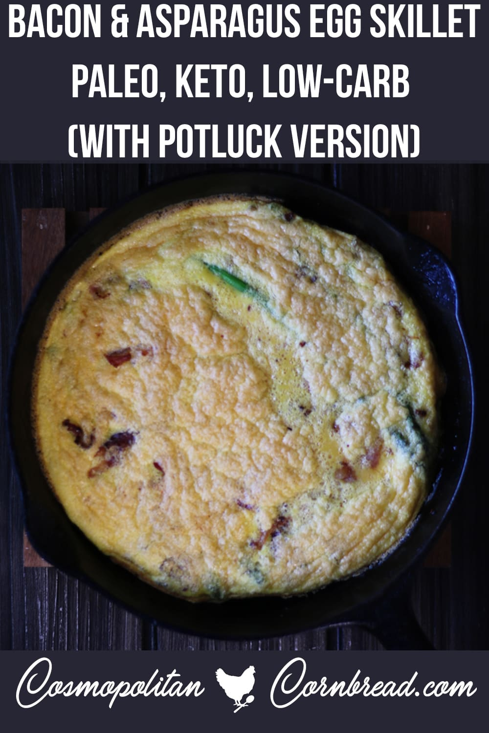 Bacon & Asparagus Egg Skillet | Paleo, Keto, Low-Carb (With Potluck Version)