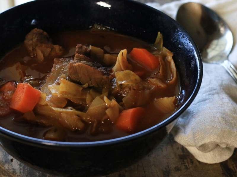 Irish Beef & Cabbage Soup | Paleo