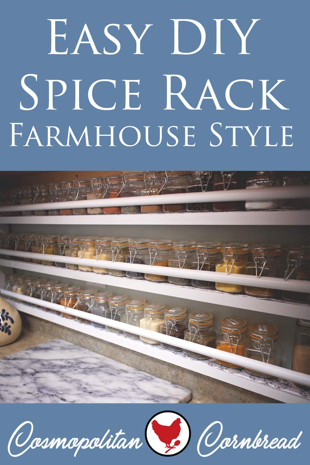 how to make an easy diy spice rack