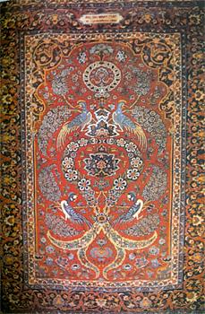 Carpet woven by Polish students at Isfahan