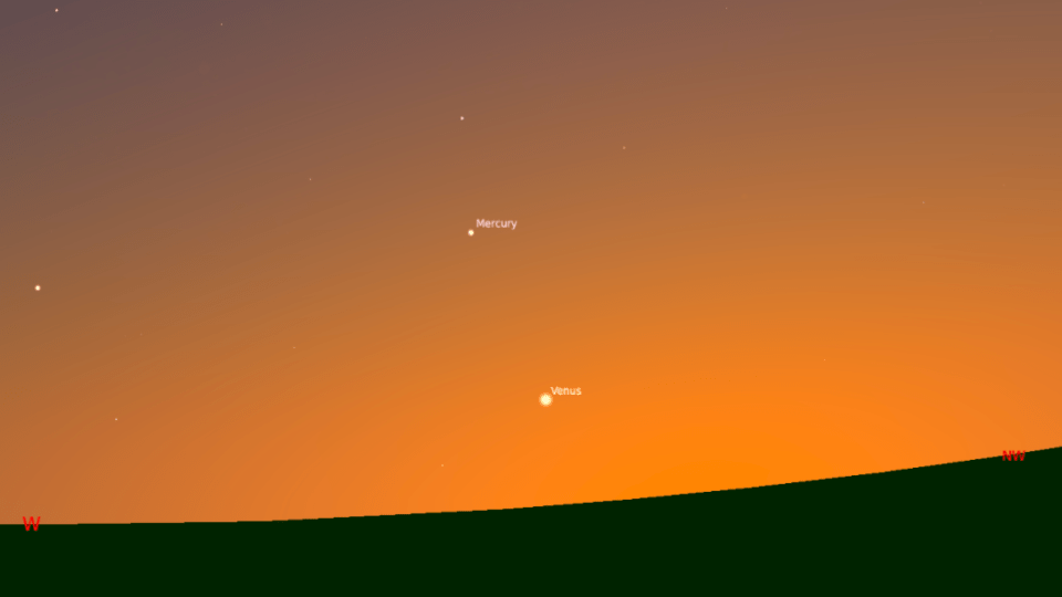 What's Up: Mercury at Sunset and Nova in Cassiopeia