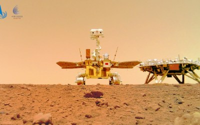 Chinese Rover takes Selfie on Mars