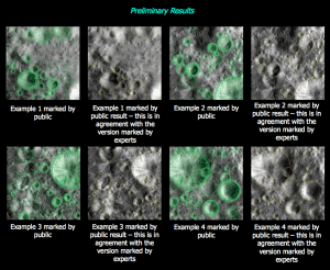 Comparison of Expert & CQ crater marks for Vesta
