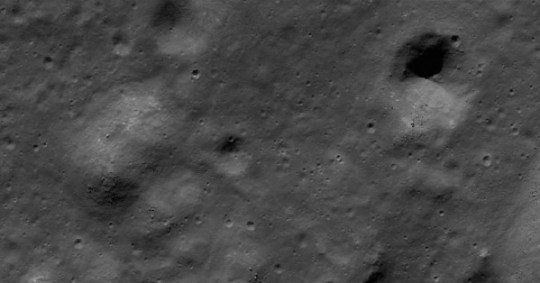 Moon crater and hill