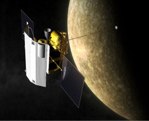 Artist's conception of MESSENGER at Mercury. Credit: NASA