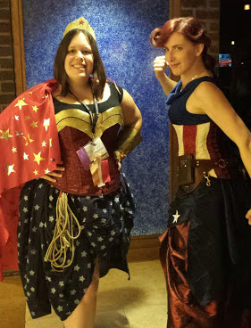 All the Costumes! Here our friend Nutchas and Seelix pose as superheroes.