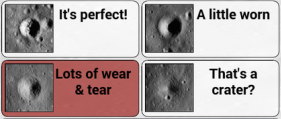 How erosion is classified in the MoonMappers Crater Decay App for Android