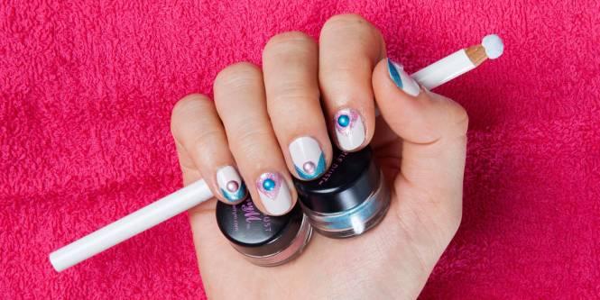 I Love London Pink Uk Nail Arts Sticker 14 Pcs Set Waterproof Decals Art