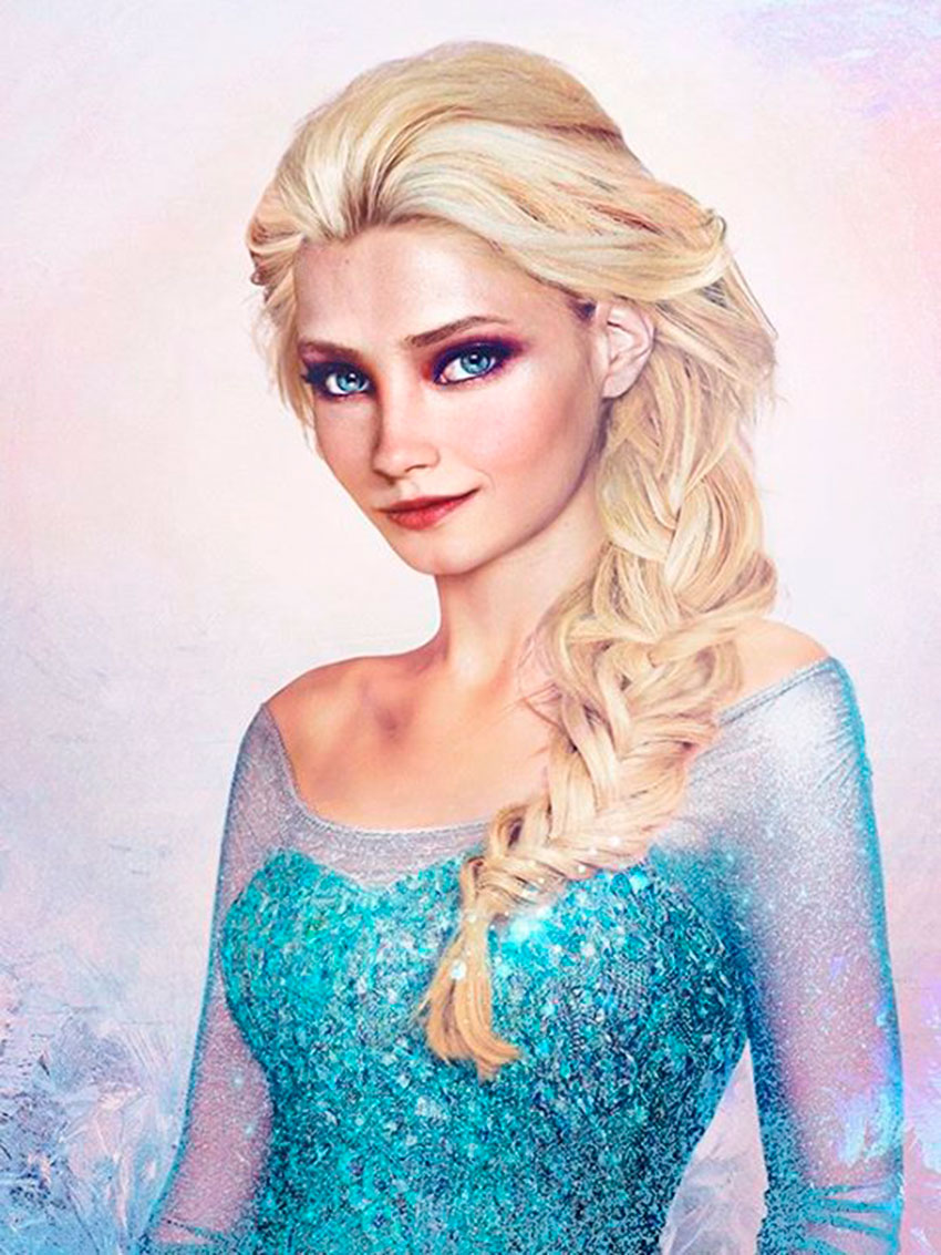 Elsa from Frozen in real life