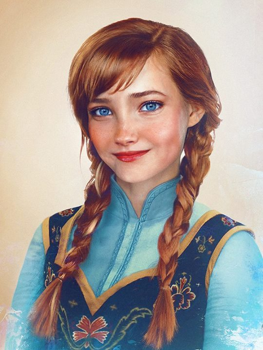 Anna from Frozen in real life