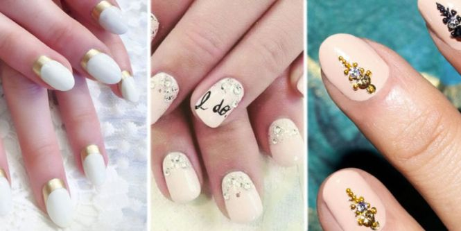 Simple Red Wedding Nail Art Designs With Outfit Accent