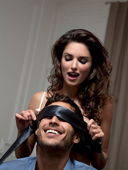 Using a blindfold is a great way to make treat your man to new sensations. He won't know where you're going to kiss, stroke or lick and he'll love it. Don't be afraid to experiment using your hair or pearls when rubbing against his penis. HOW TO MAKE DOGGY STYLE EVEN BETTER ORAL SEX TIPS FOR YOU AND HIM READ MORE SEX TIPS HERE
