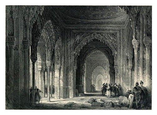 Grabado sobre la Alhambra por David Roberts.