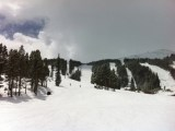 Clouds roll in and out with snow all day at Breckenridge